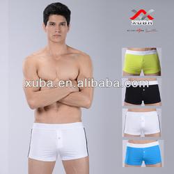 Hot sexy gay men underwear cotton boxers briefs white