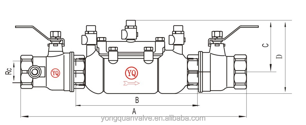 Backflow Preventer Dimensions Steel Backflow Preventer