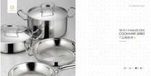 Tri-Ply Cookware LISHI stainless steel cooking pot soup pot hotel supplies/ kitchen utensil