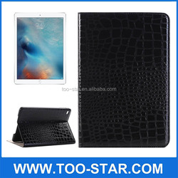 Crocodile Texture Stand Flip Leather Case For iPad Pro