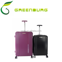 Hot Sale Factory Price Cheap Double Wheels PC+ABS Travel Luggage/ TSA lock suitcase 2PCS set