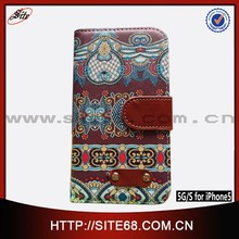 2015 new product mobile phone case for iPhone 5, for iPhone 5 smart case,leather phone case graffiti wallet card holder printing