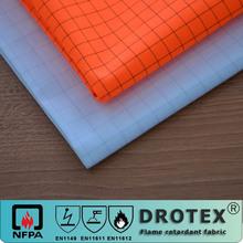 EN20471 cotton polyester blend hi-vis fluorescent orange fireproof anti-static fabric for hi-vis jacket
