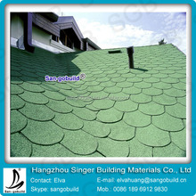 Excellent Flexibility Fish Scale Asphalt Roofing Shingle with Strict Quality Requirments
