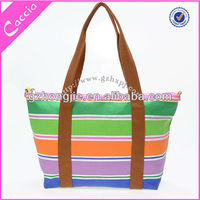 Multi-colored strip shopping bag suppliers