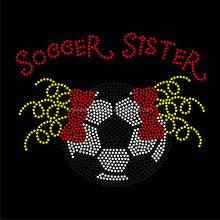 Personalized colorful soccer Iron On Rhinestone Transfer Designs For T Shirt FY59 (22)