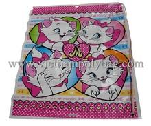 Selling pet food rope handle plastic bag