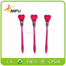 Multi-color heart shape promotional pen