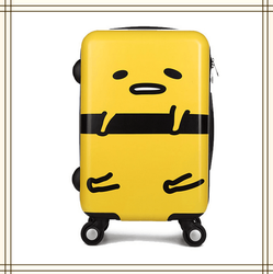 2015 new design cute luggage children school bag mini white and yellow printing luggage cartoon bag travel abs pc luggage
