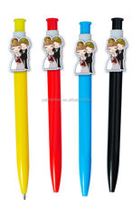 Wedding Favors Pens Plastic Ball Point Pens/ Custom Cartoon Clip Pen /Promotional gifts/ Advertising product shenzhen China