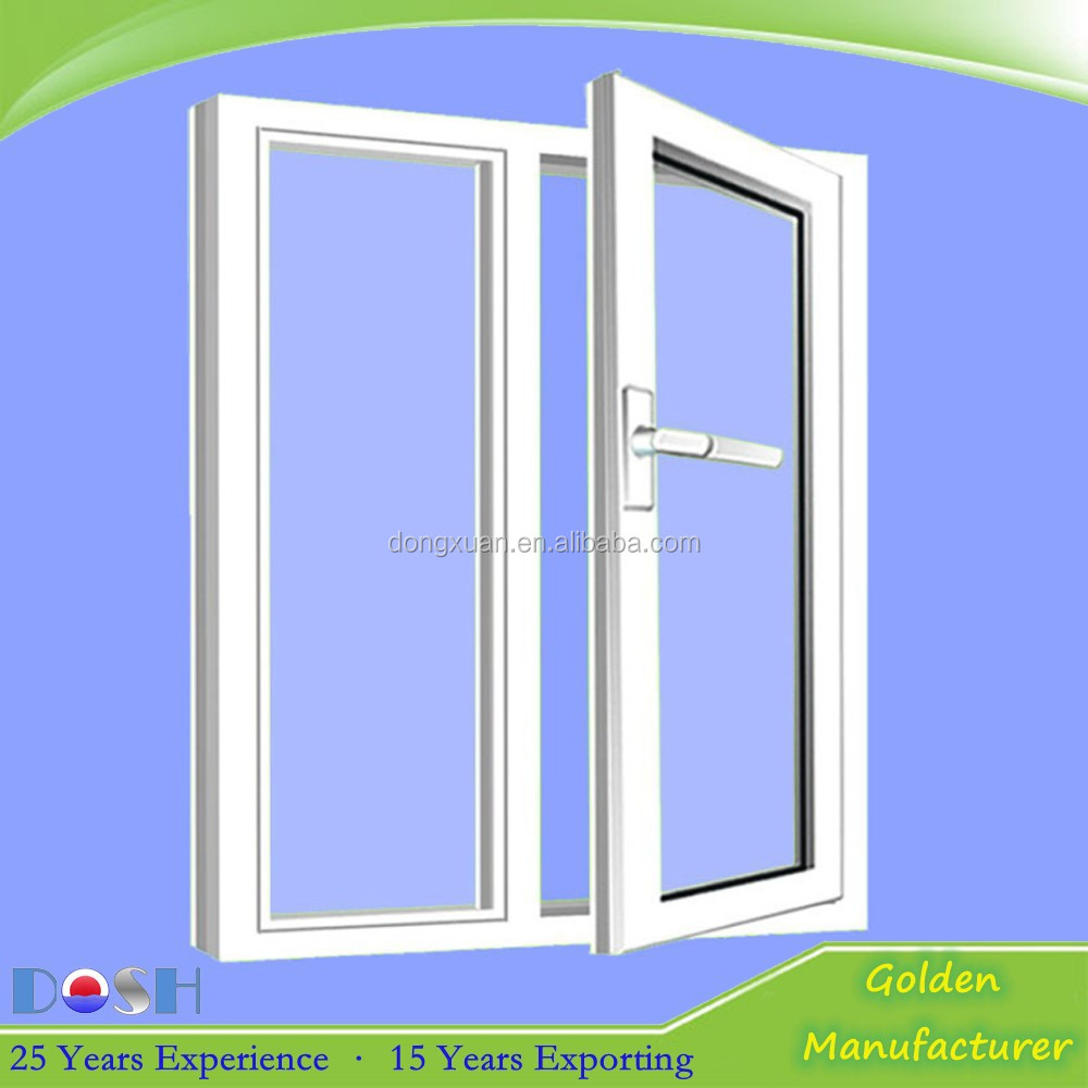 Cheap white pvc opening window pvc double glass casement for Buy casement windows