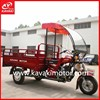 Gas Powered Disabled Motor Tricycles With Front Cabin Fender For Driver / Cargo Motor Tricycle