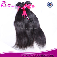 Highly feedback fast delivery top quality peruvian human hair fake black straight hair