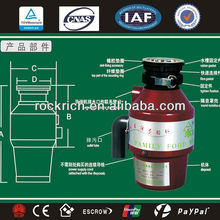 Restaurant food waste disposer 220v of kitchen appliance