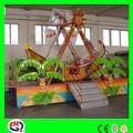 Crianças de diversões rides mini navio pirata com luzes LED ISO9001 e BV aprovação fábrica máquina de venda quente