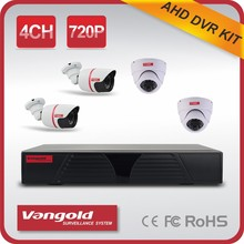 4CH H.264 Indoor and Outdoor P2P AHD DVR KIT Cloud Tech 720P HD CCTV System HDMI VGA output