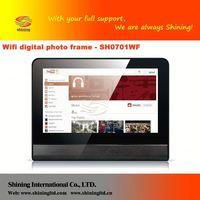 SH0701WF 2012 hot sale 7 inch digital photo frame with cloc