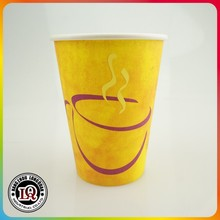 Printed Wall 12oz Single Wall Personalised Paper Cup Drink Carriers