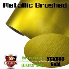 Premium Bubble Free Matte Metallic Brushed vehicle vinyl wrap For Car Body