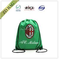 eco green custom polyester drawstring shoe bag
