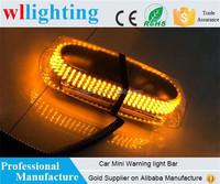 WL-52010 Amber Emergency Hazard Warning LED Mini Bar Strobe Light w/ Magnetic Base