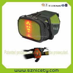 LED bike light bag, LED bike accessories bag, LED light bike saddle bag