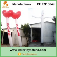 Most Popular Heart Shape Waving Air Dancer With High Quality