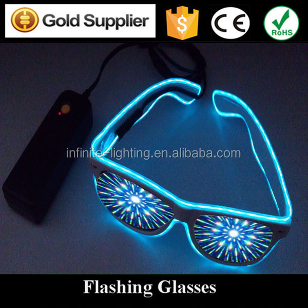Hot Sale El Wire Craft Party Glasses / Light Up El Wire Sunglasses ...