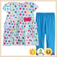 2015 summer toddler infants clothing set polk dots toddler girls boutique clothing baby set clothing dress+pant