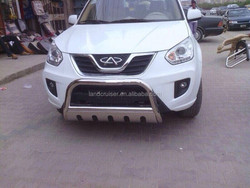 FRONT BUMPER GUARD WITH SIKD PLATE FOR CHERY TIGGO 2013,STAINLESS STEEL front bumper guard
