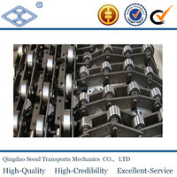 ISO DIN standard industrial long pitch steel lage roller m series m224 conveyor chain attachment