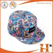 custom new design flat brim cap and hat with logo wholesale snapback cap