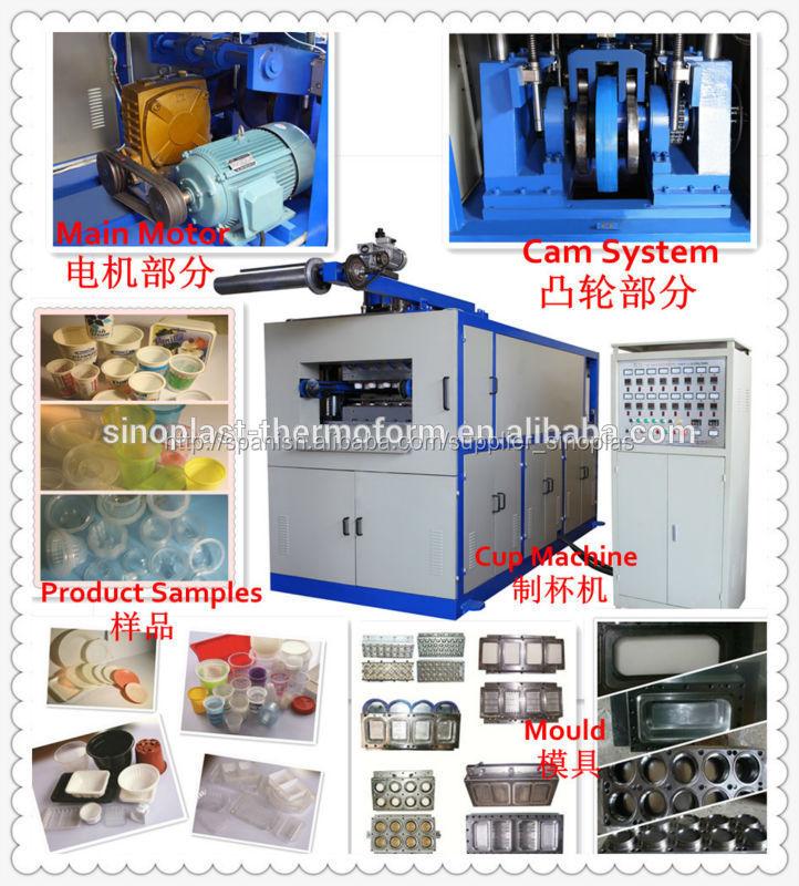 Spc-660 máquina automática de termoformado, taza de la máquina, la taza que hace la máquina
