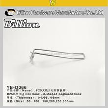 YB-D066 supermarket display hanging hook cardboard hook metal euro hook