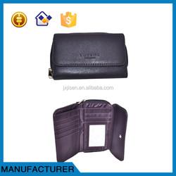 2015 wallet women fashion purple ladies sheepskin leather purse