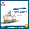 1/2 inch brass ball valve with forged threaded 600 wog nipple union and long iron handle in OUJIA VALVE