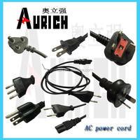 UL 125v Standrad Aviable PVC Power Cables SASO Plug Cord