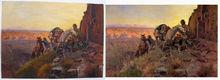 Warm welcomed artwork cowboy oil paintings 100%handmade