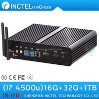 TV Smart Box for mini computers pc with haswell Intel Core i7 4500U 1.8Ghz USB 3.0 16G RAM 32G SSD 1TB HDD