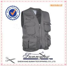 Chinese made Hot Custom Multi Pocket Fly Fishing Vest