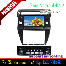 Car dvd player with GPS Navigation system/Can-bus/USB cable for Citroen C4 2012 Android 4.4 quad core Bluetooth hands-free