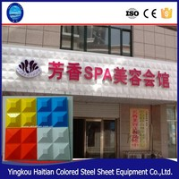 Widely used metal wall 3d panel/decorative wall panels/ exterior wall panels