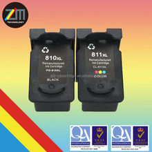 for CANON PG 810 CL 811 remanufactured ink cartridge