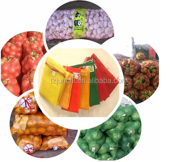 grau alimentício pp colorido raschel sacos de malha