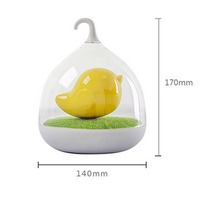 HOMEAN Creative intelligent portable bird cage led night light lamp touch smart sensor for home sleeping lovely gift
