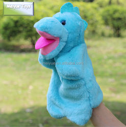 Customized Plush Toys Blue Dinosaur Hand Puppets