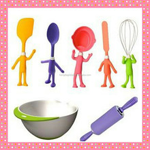 Funny Set of 7pcs mixing bowl with tool kid set, bakeware for children
