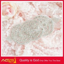 Clothing patches for dresses bead rhinestone applique wholesale rhinestone cowboy hats