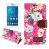 brilliant flower pattern Flip PU Leather Case for Galaxy A5 ,for SAMSUNG A5 PU leather case