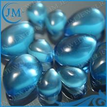Large Glass Gemstone Drop Shape Rough Glass For Jewelry Pendanrt